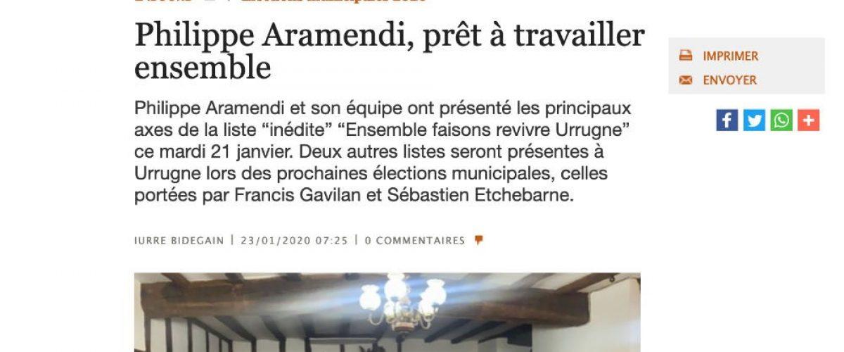 mediaBask Philippe ARAMENDI